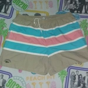 80s Lacoste Izod Swimming Trunks Board Shorts Golf
